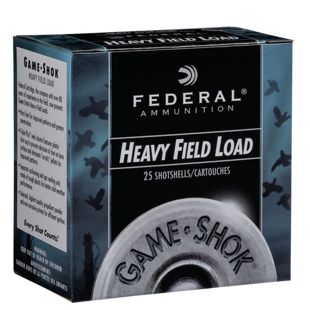 "Federal Game Shok Upland Heavy Field 12 gauge 2 3/4"" 1 1/8oz #6"