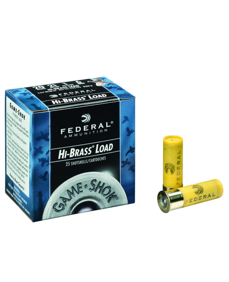 Game Shok Upland Hi-Brass 20 Gauge 2 3/4'' 1oz #6 (25 Pk)
