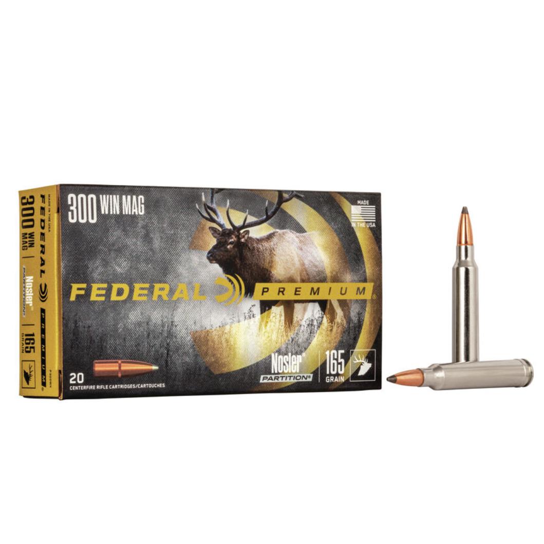 Federal Premium 300 Win. Mag. 165 gr. Nosler Partition (20 Pk)
