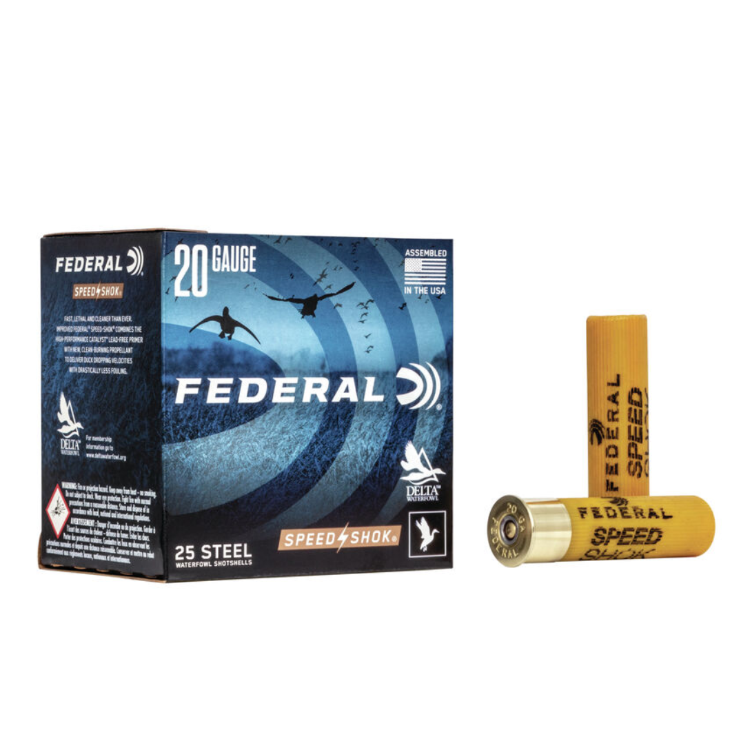 "Federal Speed Shok  20 Gauge 3"" 7/8oz #2 (25 Pk)"