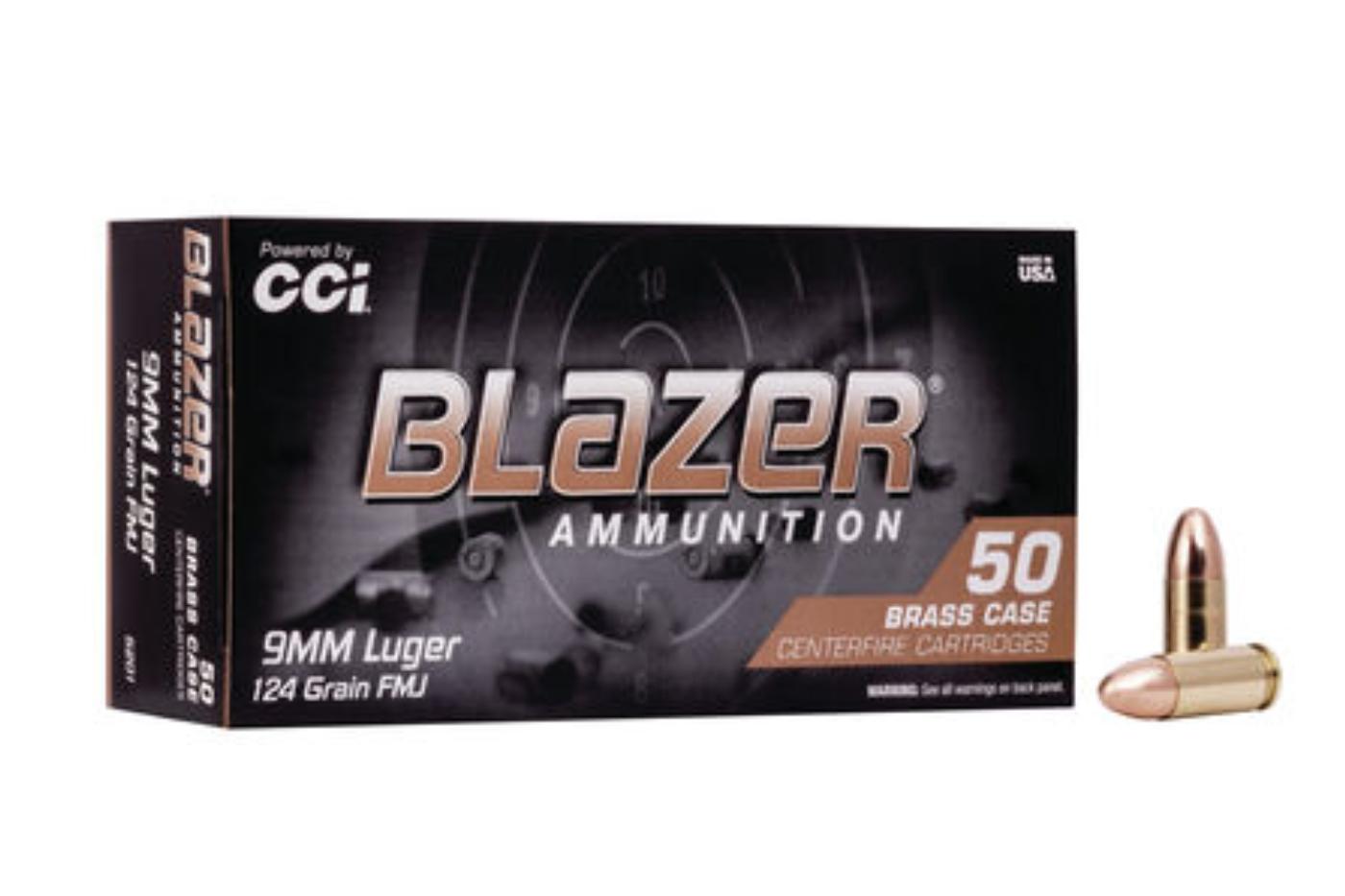CCI Blazer Brass 9mm LUGER 124gr FMJ 5201