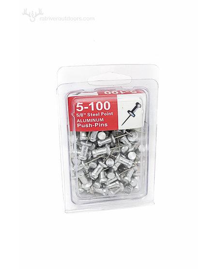 Aluminium Push Pins (100 Pk)