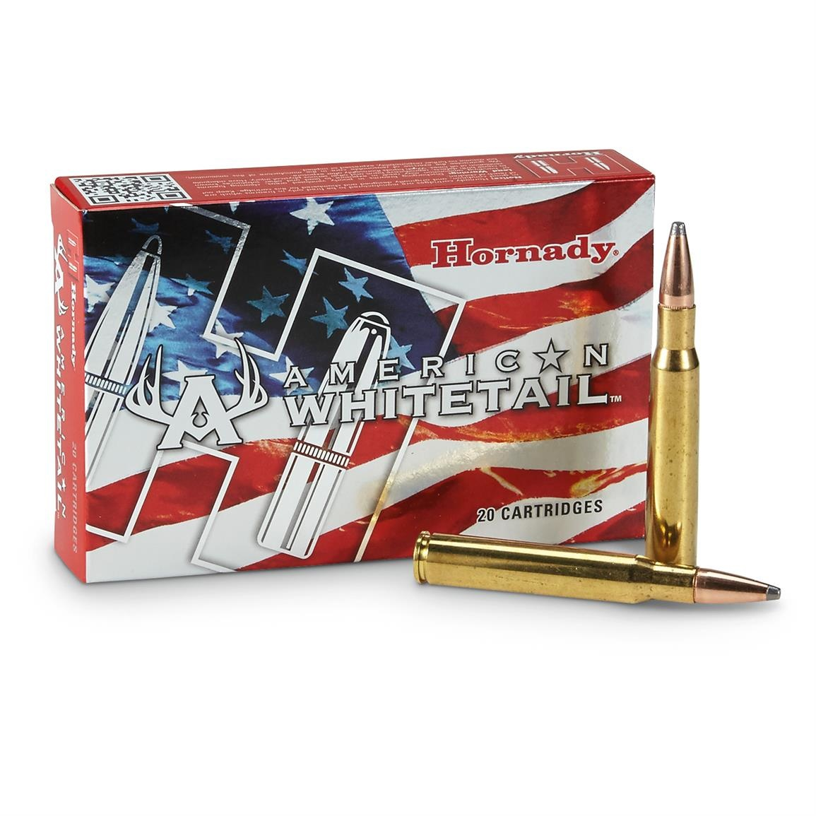 Hornady American Whitetail 7mm Rem Mag, 154 gr Interlock SP (20 Pk)