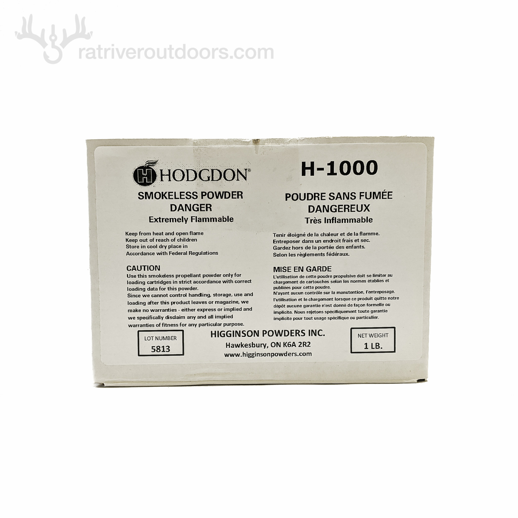 Hodgdon H-1000 Powder 1lb (boxed)