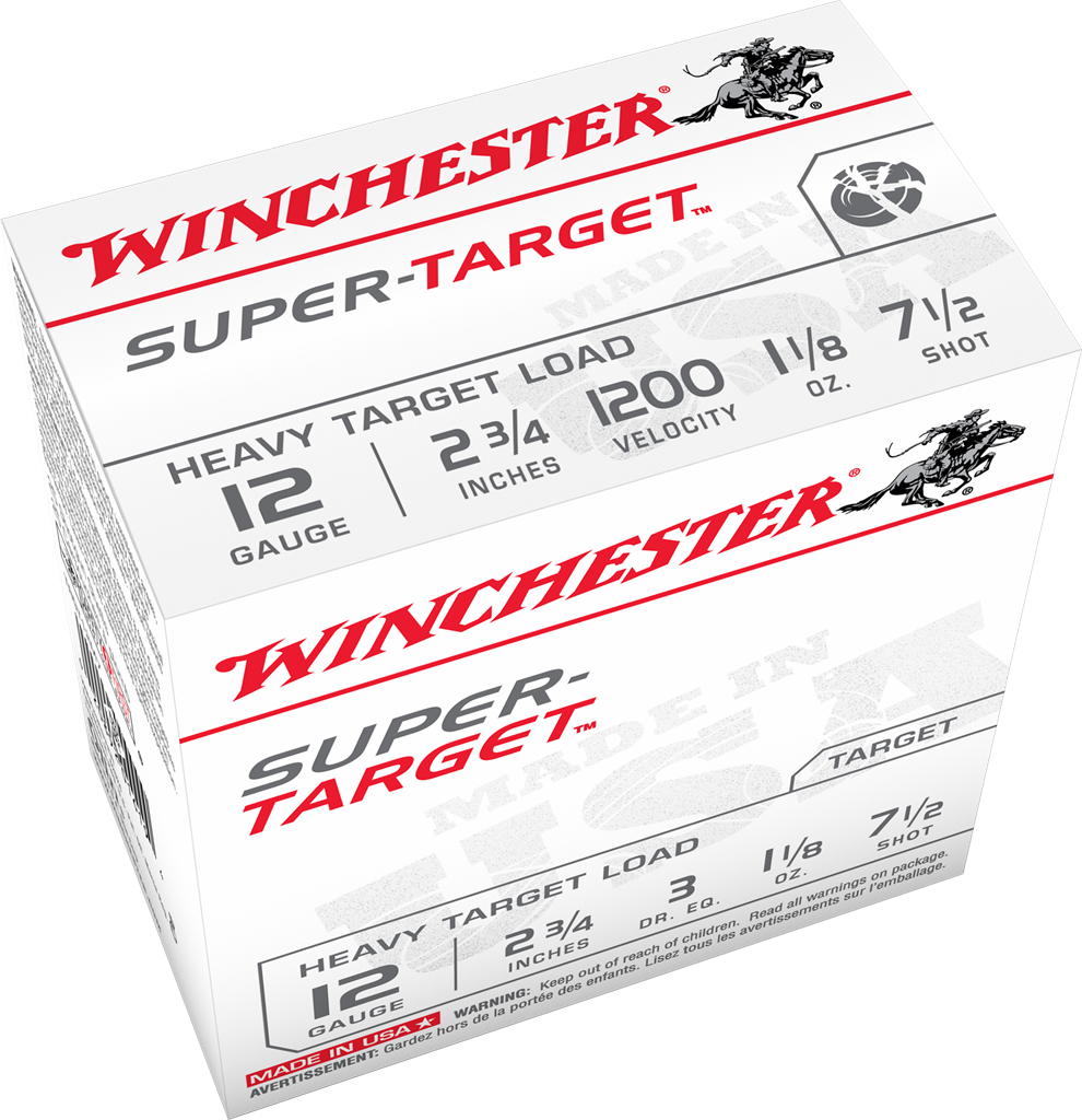 "Winchester Super-X Super Target 12ga, 2.75"", 1.1/8oz. #7 3 DRAM (25pk)"