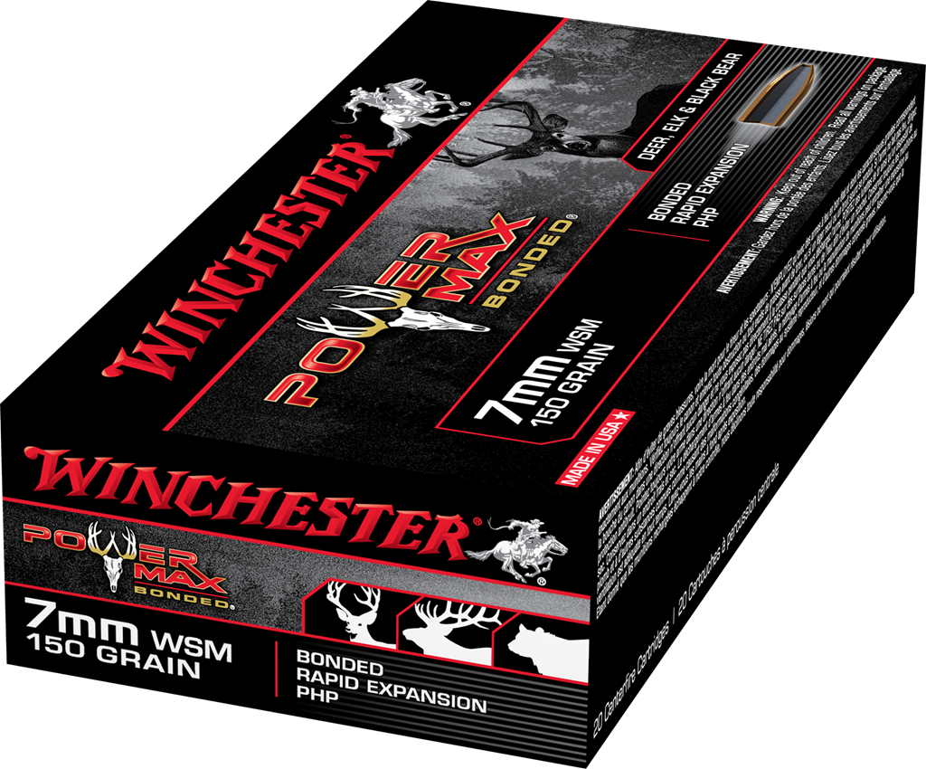 Winchester Power Max 7mm WSM, 150gr (20pk)