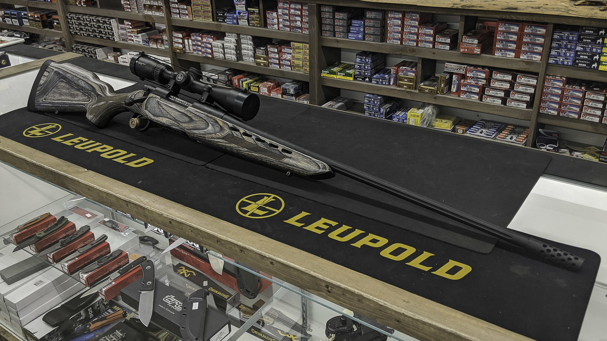 Mossberg 4x4 Laminate 22-250 w/ Vortex Crossfire 3-9x40mm