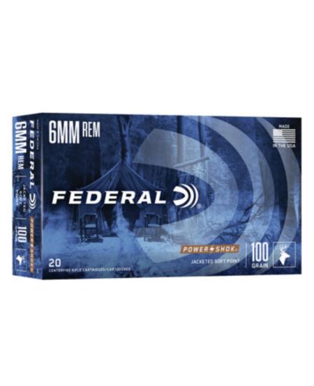 6mm Rem100gr Power-Shok Soft Point