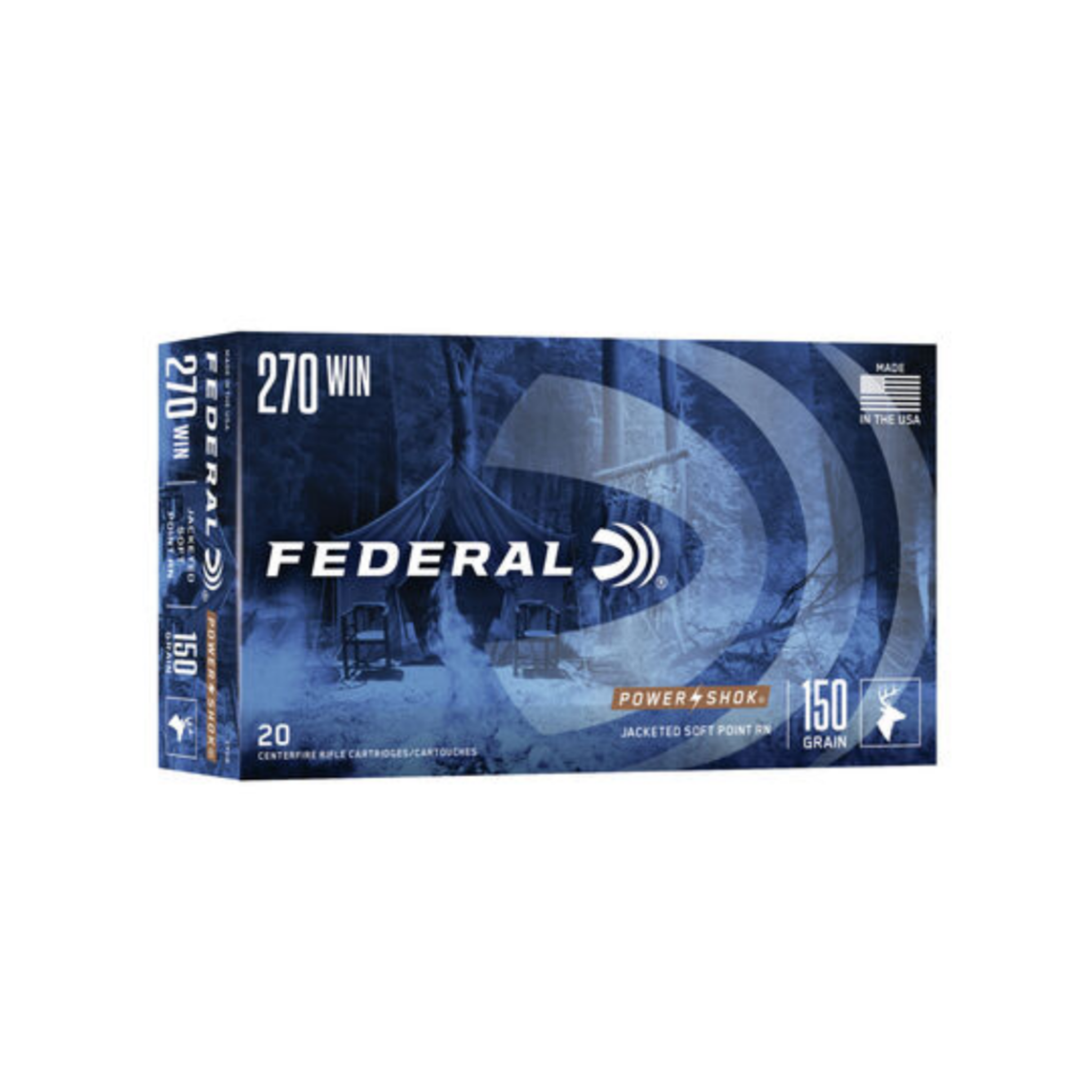 Federal .270 Win Power-Shok 150gr Soft Point Round Nose