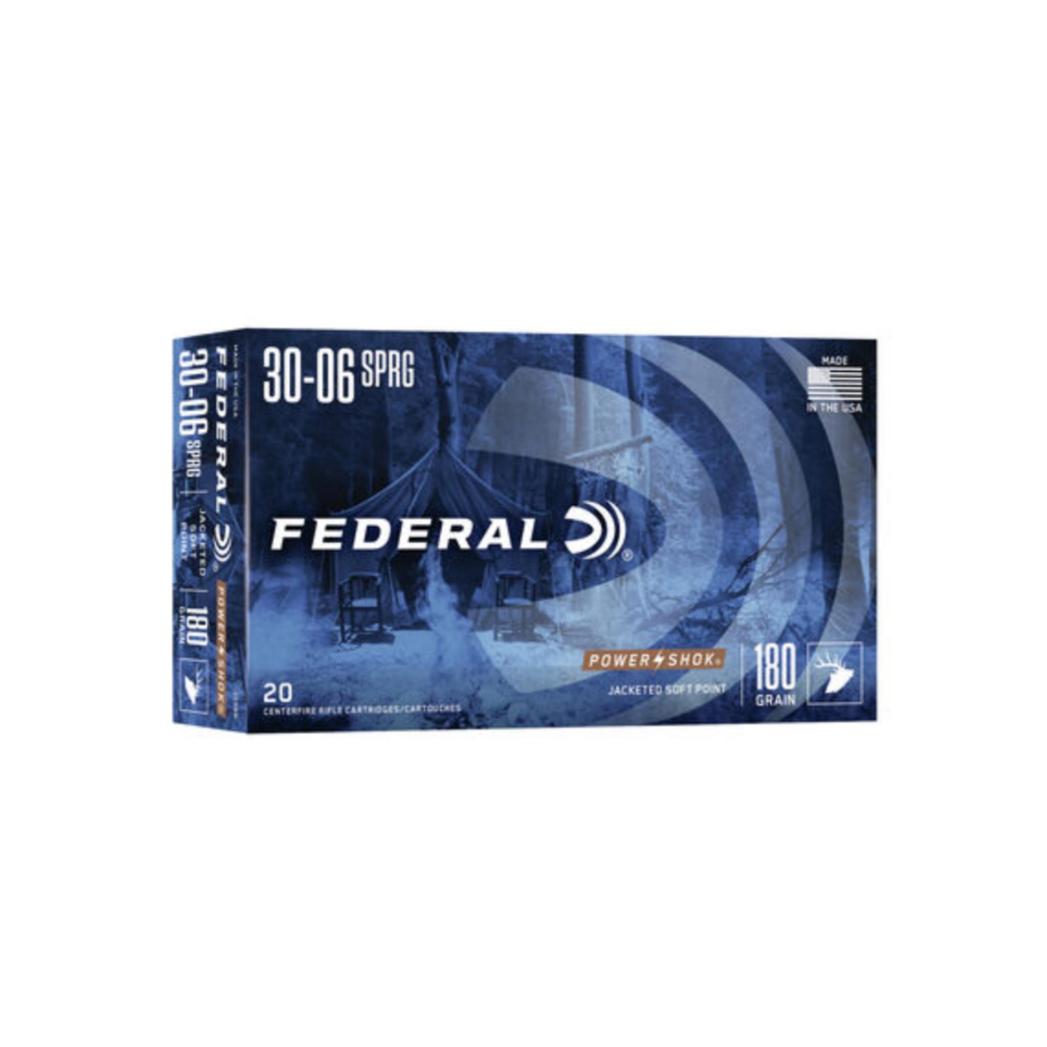 Federal .30-06 SPRG Power-Shok 180gr Soft Point