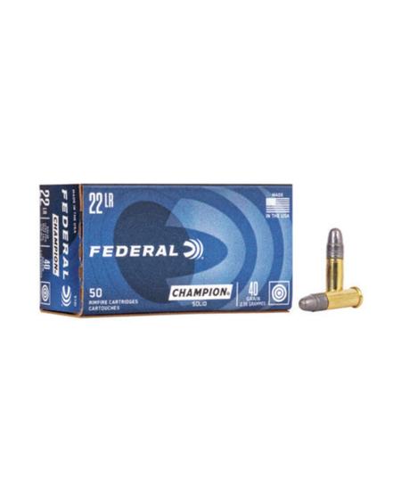 .22 Cal Long Rifle 40gr Solid (50pk)