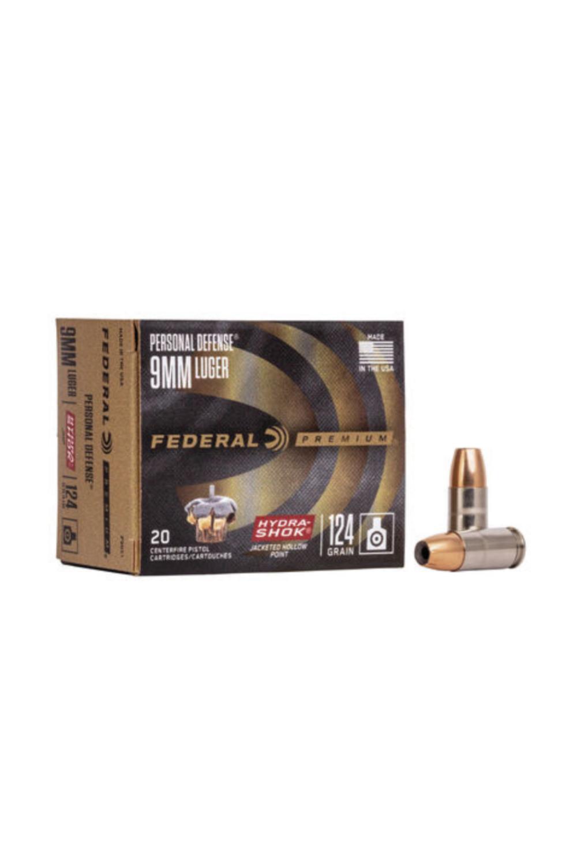 Federal 9mm Luger 124gr Hydra-Shok JHP
