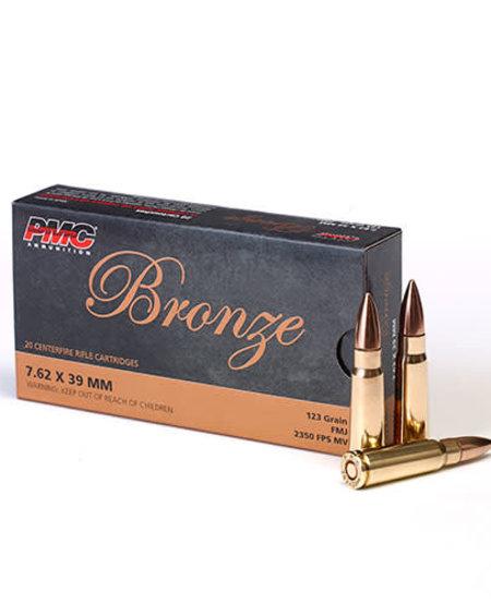 Bronze 7.62x39mm FMJ 123gr (20pk)