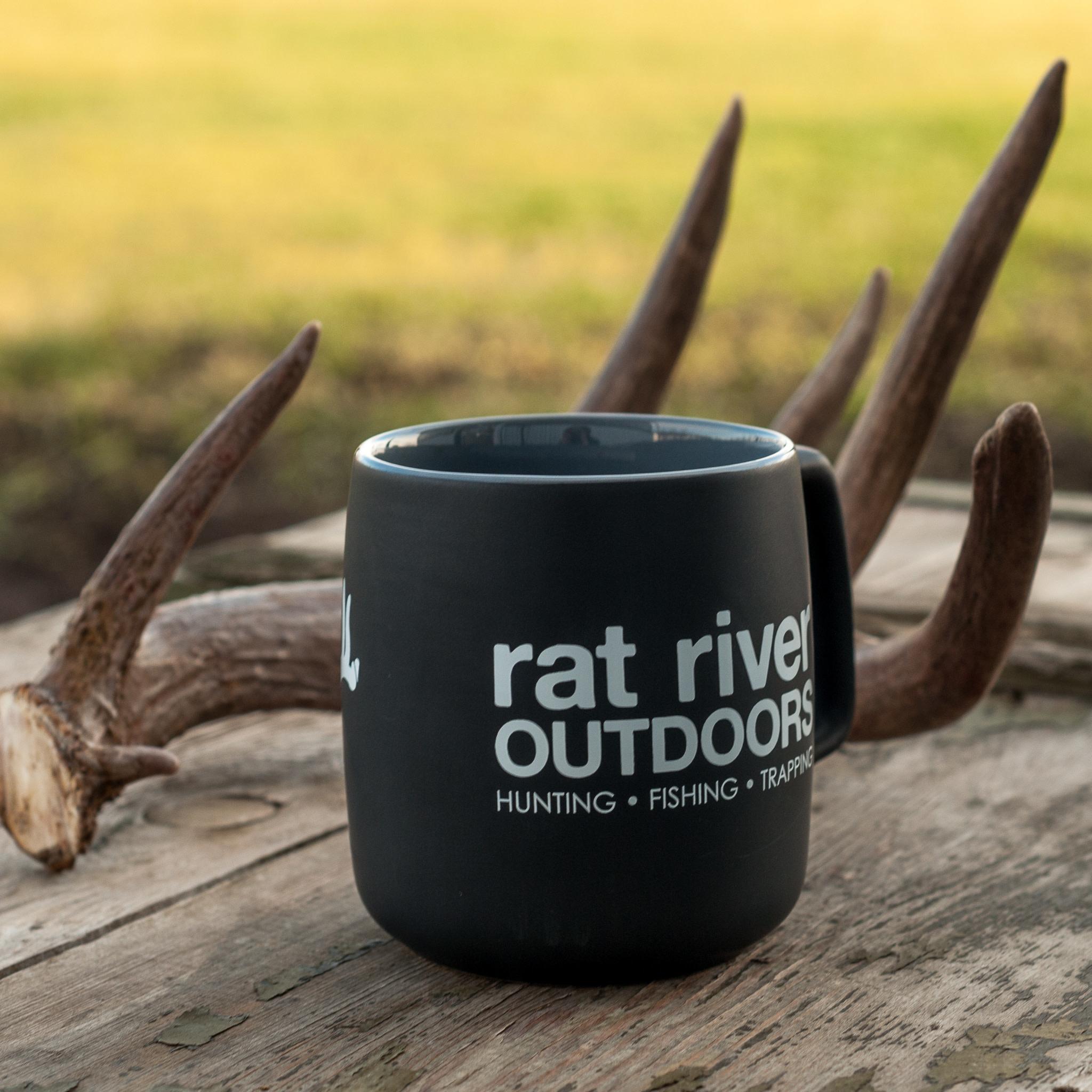 Rat River Outdoors Black/Grey 14oz Coffee Mug