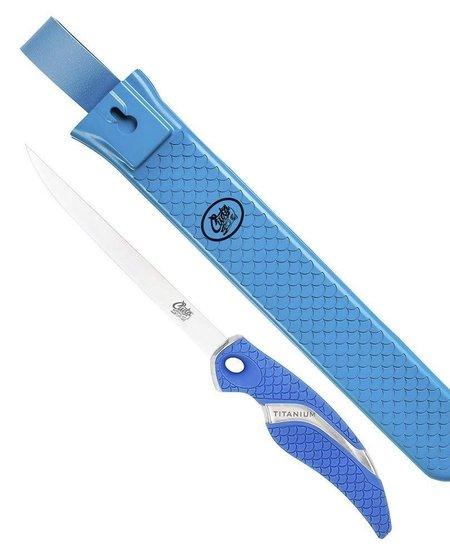 6″ Titanium Bonded Flex Fillet Knife & Fishermans Sheath Set