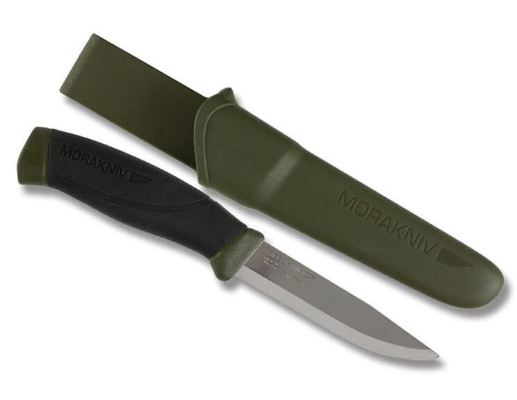 """Mora Companion 4"""" Green Stainless with Sheath"""