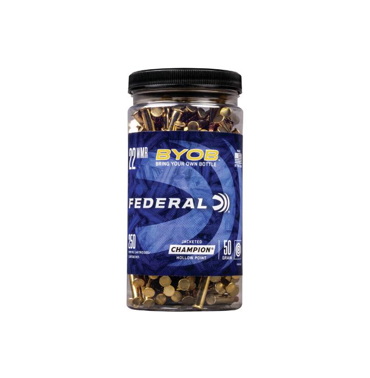 Federal BYOB .22 WMR 50gr JHP (250pk)