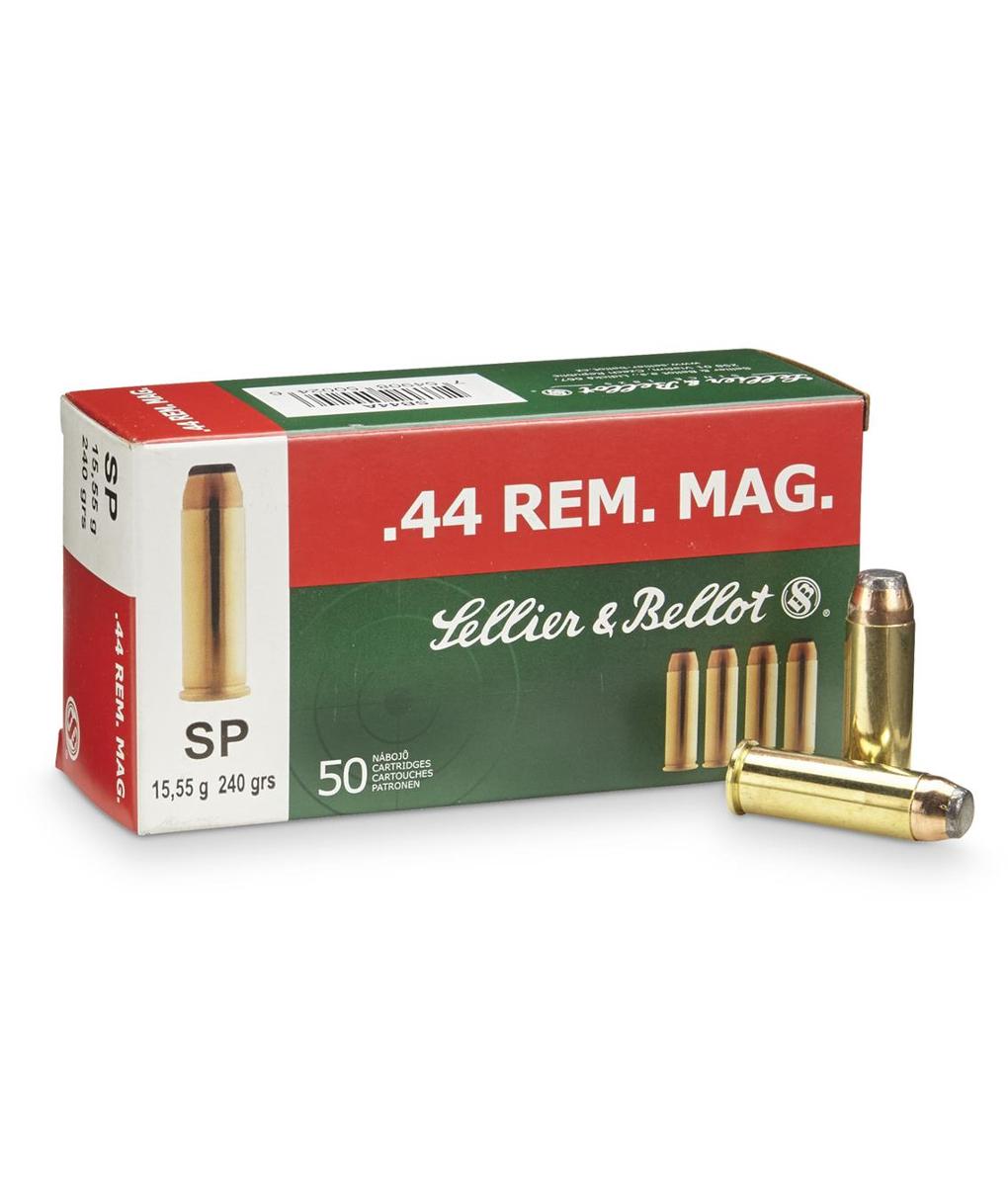 Sellier & Bellot .44 Rem .Mag, 240gr. SP (50pk)