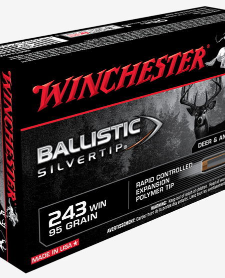 .243 Win, 95gr Ballistic Silvertip (20pk)