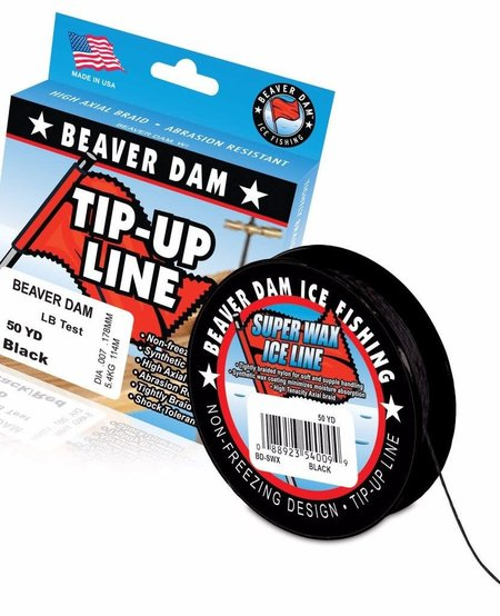 Fishing Tip-Up Line, 20lb, 50yd, Black