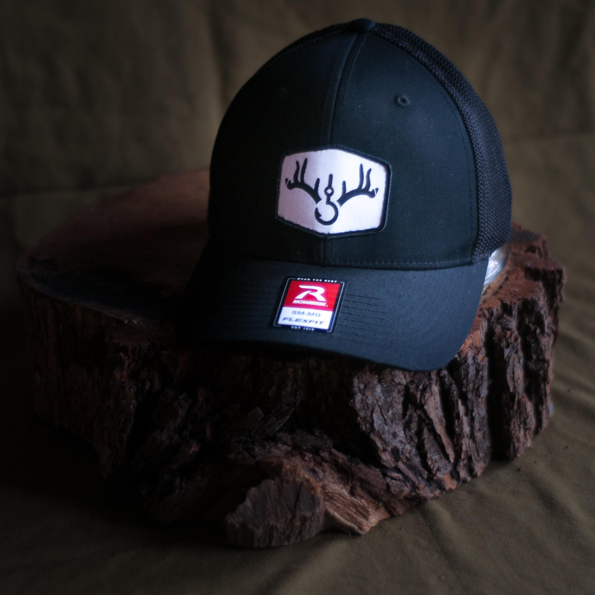 Richardson RRO Patched Logo Black Hat (Richardson 110 SM/MD)