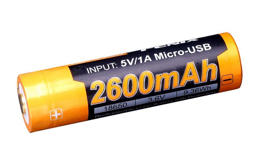 Fenix Rechargeable 18650 3.6V 2600mAh