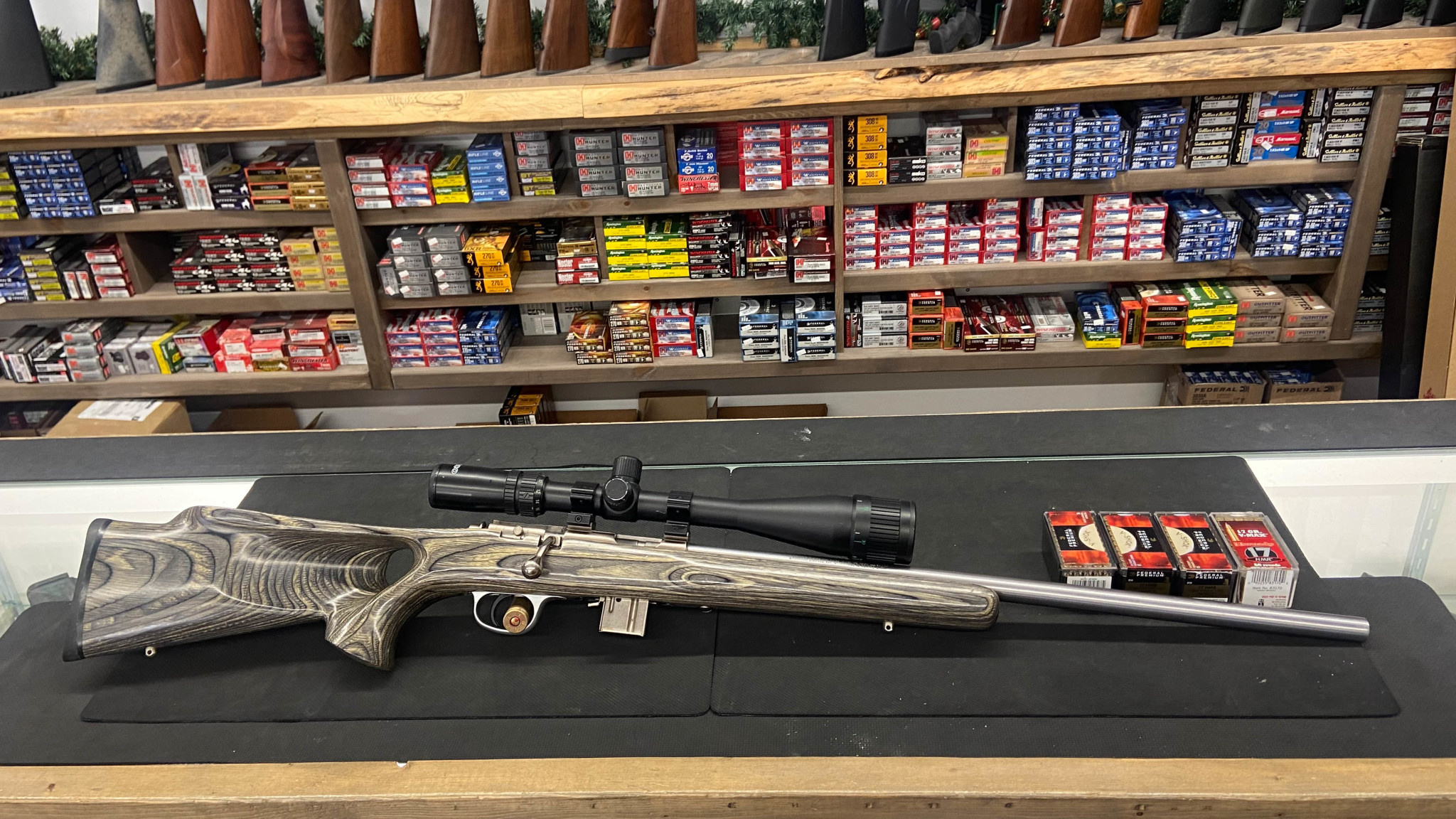 Marlin 917VS 17hmr W/ Tasco 9-24 scope and 4 boxes of ammo