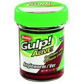 "Berkley Gulp Alive Angle Worms 1"", Natural (2.1oz Jar)"