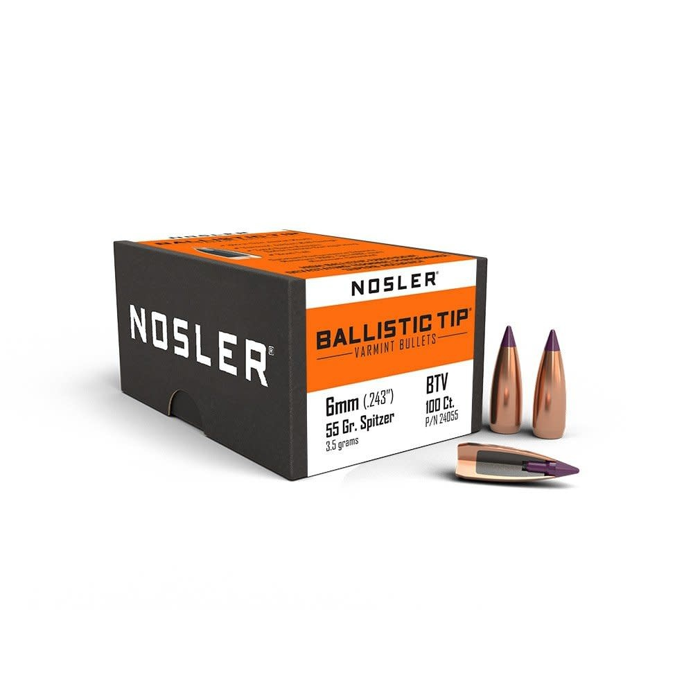 Nosler  Ballistic Tip Varmint .243Dia 6mm 55gr (100pk)