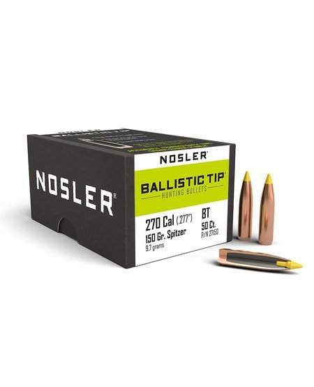 Nosler Ballistic Tip .270 Cal .277 Dia 150gr (50pk)