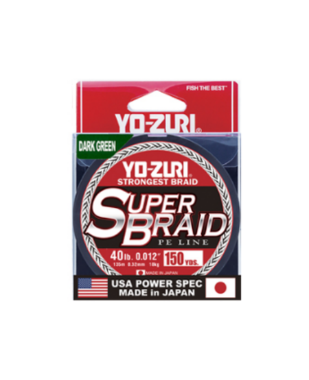 Super Braid 150yd 20lb (Dark Green)