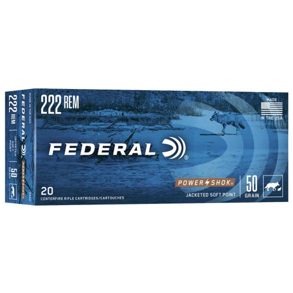 Federal .222 Rem. 50gr SP 20pk