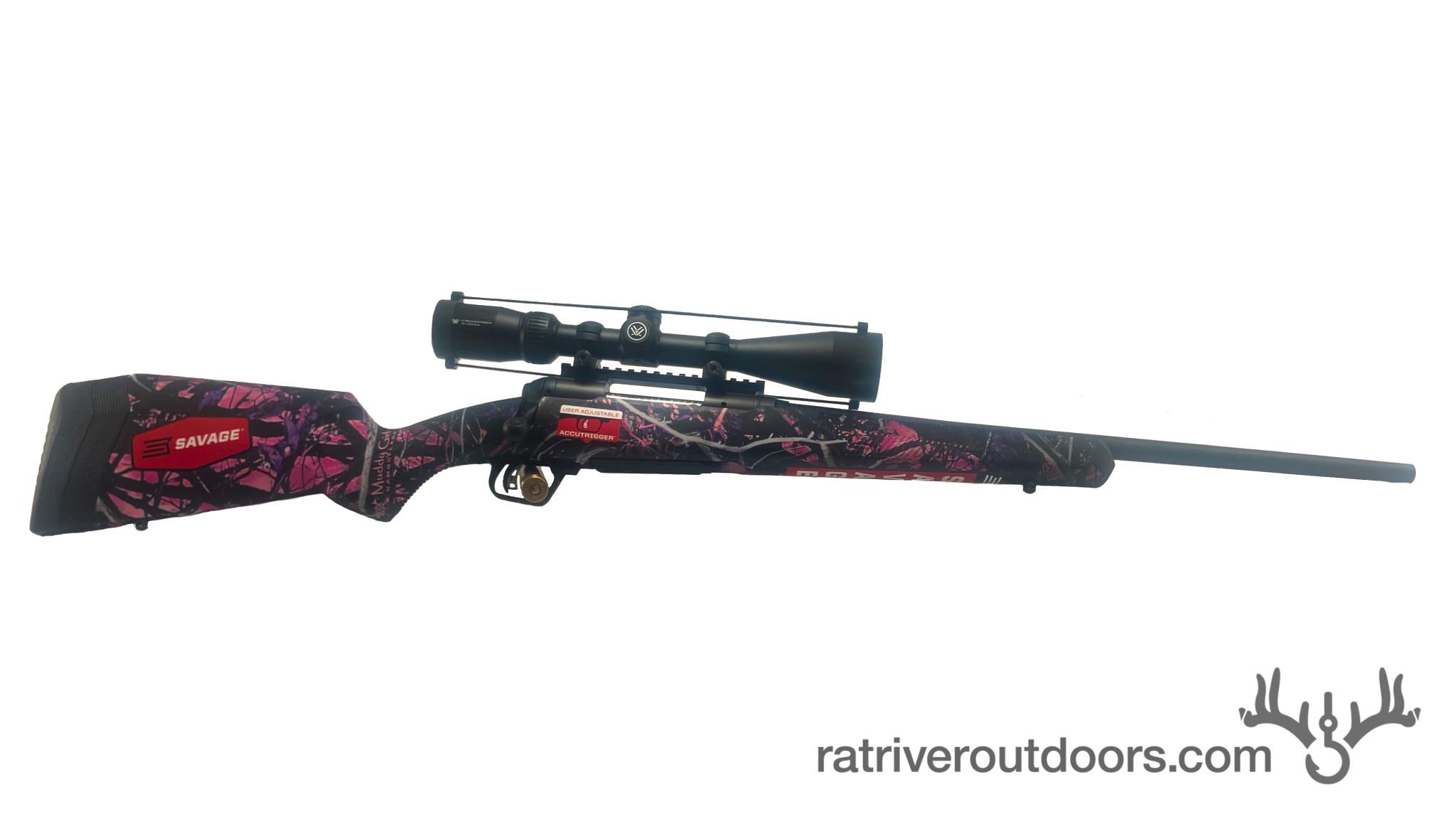 Savage 110 Apex Hunter XP Muddy Girl Camo 7mm-08 Synthetic w/Vortex Crossfire Scope