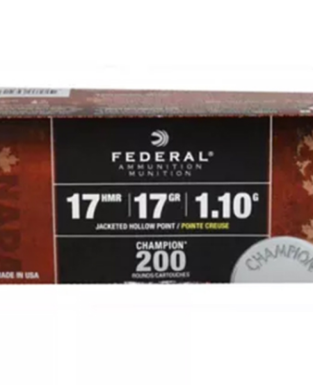 17hmr 17gr Jacketed Hollow Point 200rds