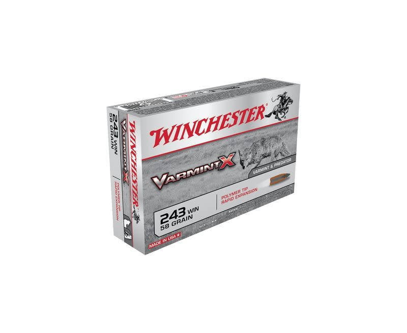 Winchester Varmint X 243win 58gr Polymer Tip Rapid Expansion (20rds)