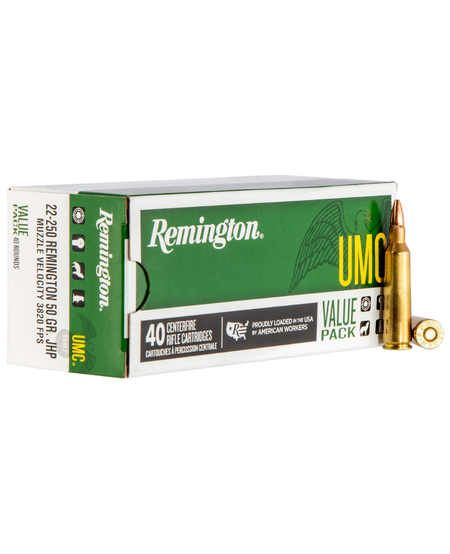 UMC 22-250 Rem Jacketed Hollow Point 50gr (40pk)