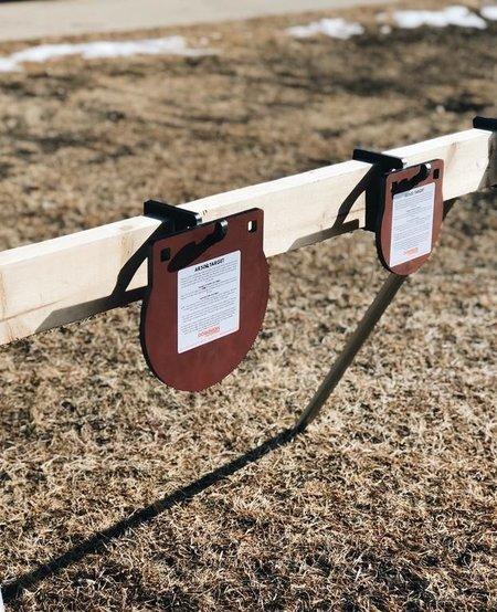 "AR500 Steel Target Stand Set, W/Conuit Leg Brakets & 2 Hooks. 3/8"""