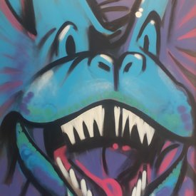 Unfinished Blue-Boy, 6' x 4', L Painting, One Of A Kind, Hand Made