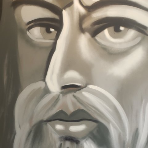 Da-Vinci, 6' x 4', L Painting, One Of A Kind, Hand Made