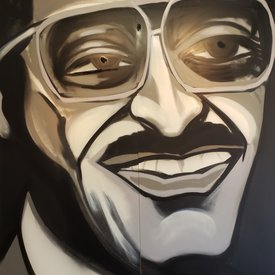 Unfinished Davis-Jr, 7' x 6', XL Painting, One Of A Kind, Hand Made