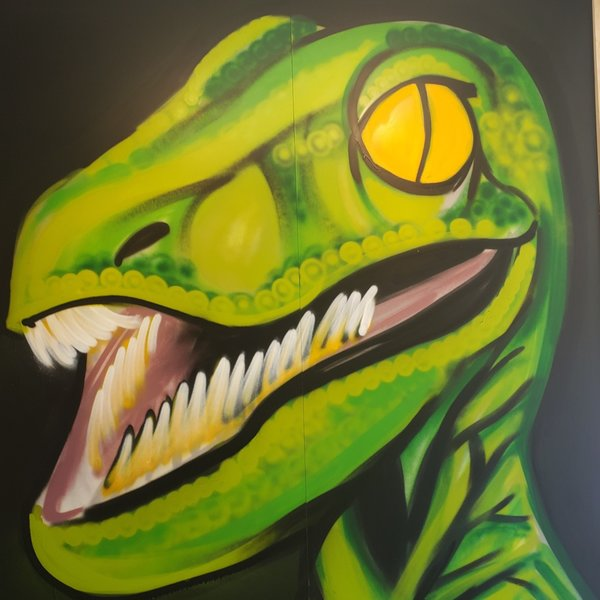 Unfinished I'm-Hungry, 7' x 6', XL Painting, One Of A Kind, Hand Made