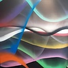 Ley-Lights, 7' x 6', XL Painting, One Of A Kind, Hand Made