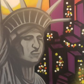 Unfinished Liberty, 6' x 4', L Painting, One Of A Kind, Hand Made
