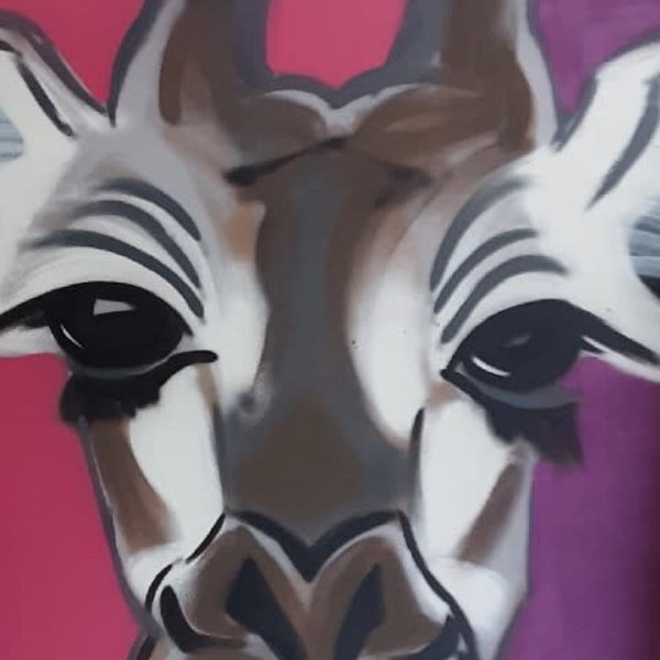 Unfinished Long-Eyes, 6' x 4', L Painting, One Of A Kind, Hand Made