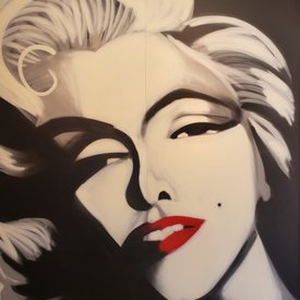 Unfinished Monroe, 7' x 6', XL Painting, One Of A Kind, Hand Made