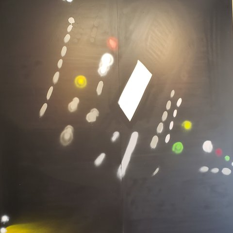 Night-Ship, 7' x 6', XL Painting, One Of A Kind, Hand Made