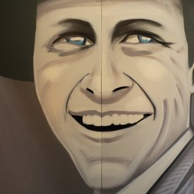 Unfinished Sinatra, 7' x 6', XL Painting, One Of A Kind, Hand Made