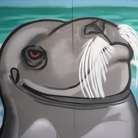 Unfinished Snub-Nose, 7' x 6', XL Painting, One Of A Kind, Hand Made