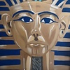 Tutankhamun, 7' x 6', XL Painting, One Of A Kind, Hand Made