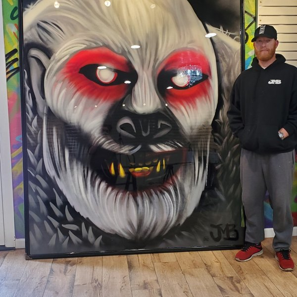Finished Sinister, 7' x 6', XL Painting, One Of A Kind, Hand Made